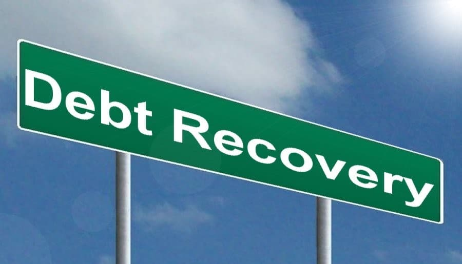 Sign saying Debt Recovery